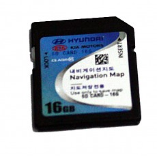 (F1T) 현대기아차 AVN 순정품  지도 16GB SD 카드